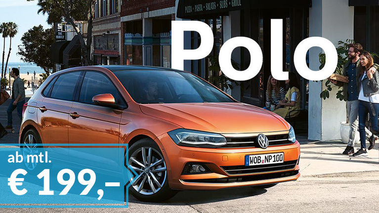 VW Polo Privatleasing-Angebot ab mtl. € 199,–