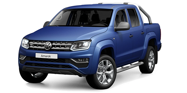 VW Amarok in mattblau