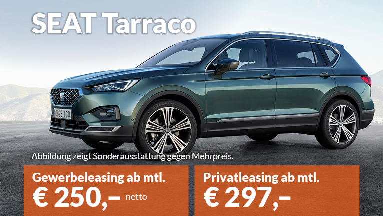 SEAT Tarraco Privatleasing Gewerbeleasing