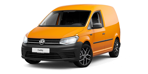 Volkswagen Caddy in orange