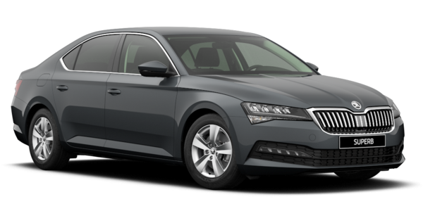 skoda superb limousine in grau