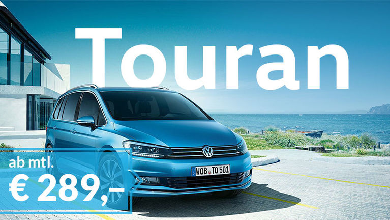 VW Touran Privatleasing-Angebot ab mtl. € 289,–