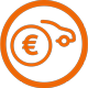 Autofinanzierung Icon in orange